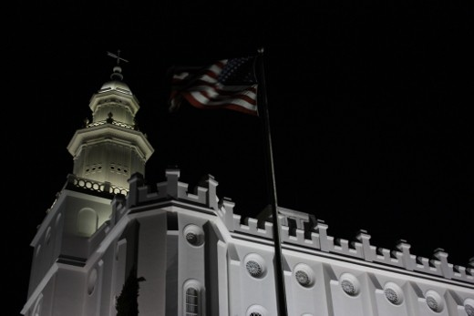 St. George Temple & flag