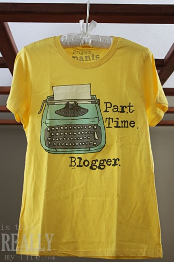 Part Time Blogger tshirt