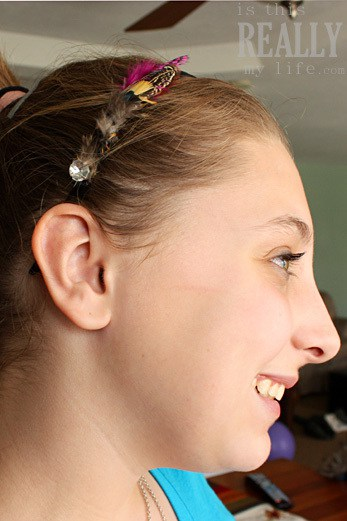 DownEast feathered headband