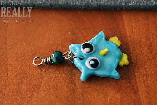owl cell phone charm