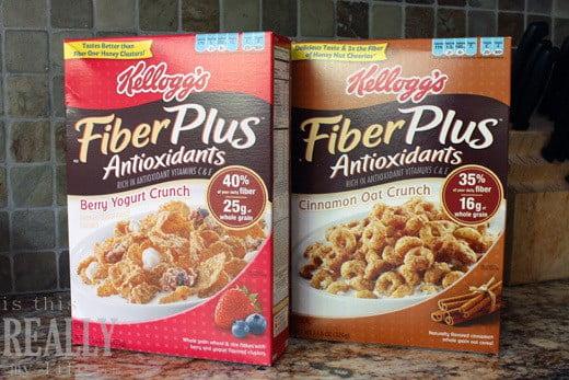 Kellogs FiberPlus cereal