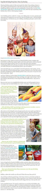 KidSteals blog birthday party ideas