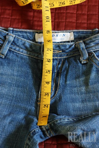 measuring jeans rise