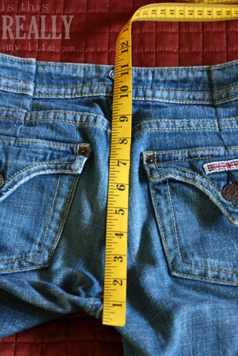 measuring jeans back rise