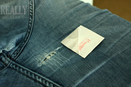 patching denim jeans