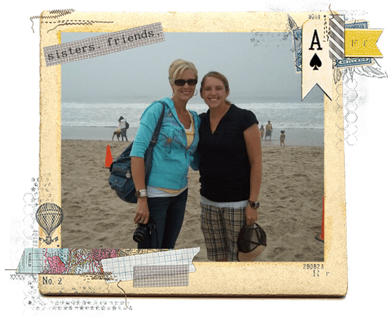 photo of sisters with rhonna designs frame