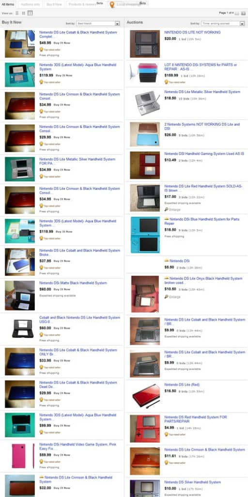 Nintendo DS on eBay