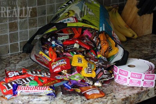 Halloween candy Trader Joe's bag