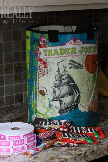 halloween candy bag Trader Joe's bag