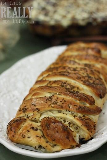 Rhodes baked reuben braid