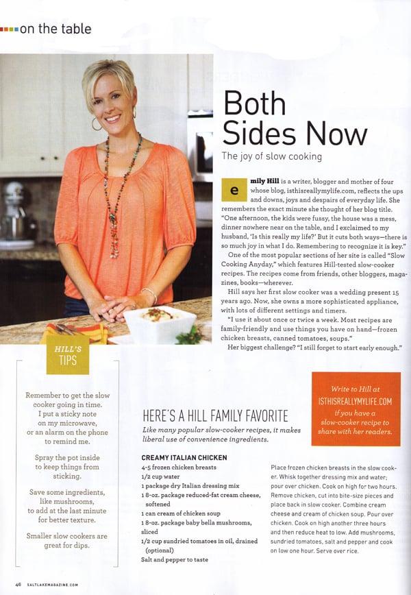 Salt Lake Magazine Emily Hill slow cooker