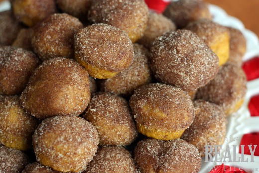 pumpkin mini muffins doughnut holes