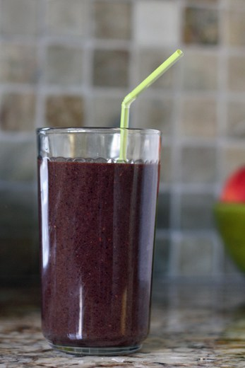 green blueberry smoothie