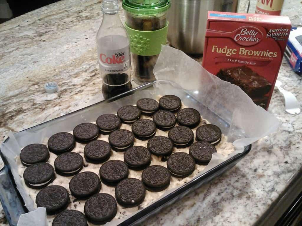 chocolate chip cookie oreo brownie dessert