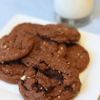 chocolate toffee almond cookies by Two Peas and Their Pod