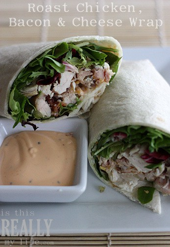 rotisserie roast chicken wrap