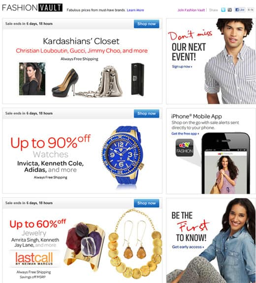 ebay fashion vault