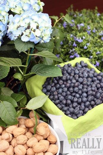 blueberries walnuts