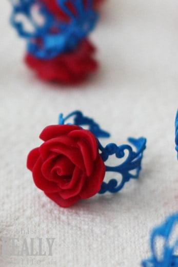 cabochon flower ring tutorial