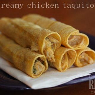 creamy chicken taquitos recipe