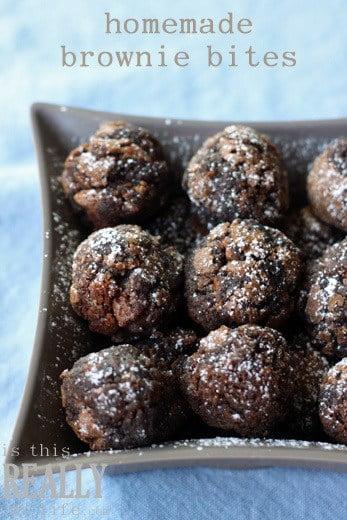 homemade brownie bites