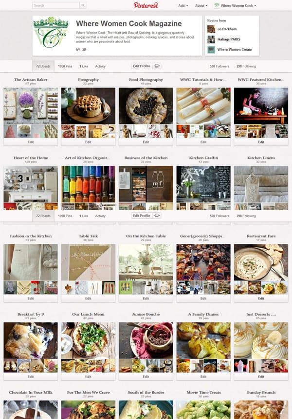 Where Women Cook on Pinterest