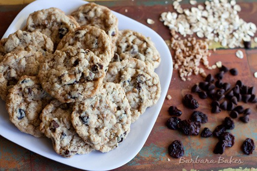 Cherry Chocolate Chip Oatmeal Toffee Cookie by Barbara Bakes