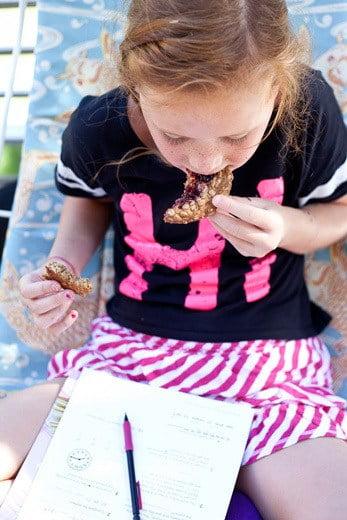 Foodie Crush Peanut Butter & Jam Thumbprint Oatmeal Cookies