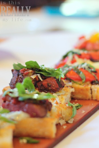 Brio Tuscan Grille sliced steak bruschetta