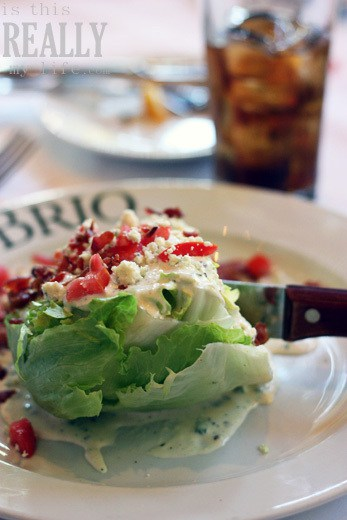 Brio Tuscan Grille wedge salad