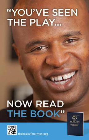 Alex Boye Book of Mormon ad in Book of Mormon Musical playbill