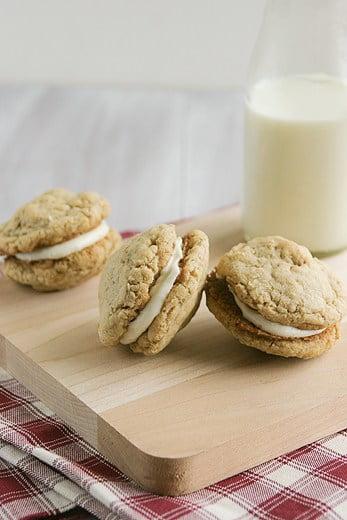 Oatmeal cookie pies by Deborah of Taste and Tell