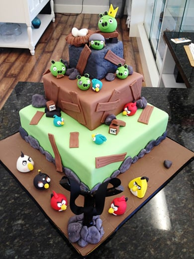Angry Birds cake by One Sweet Slice