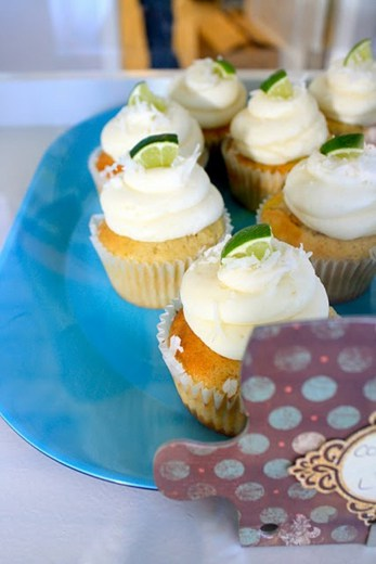 One Sweet Slice key lime coconut cupcakes