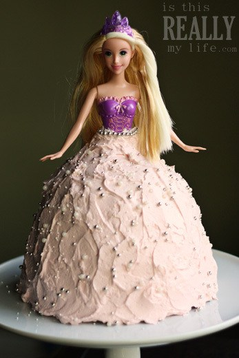 Princess Barbie doll cake recipe