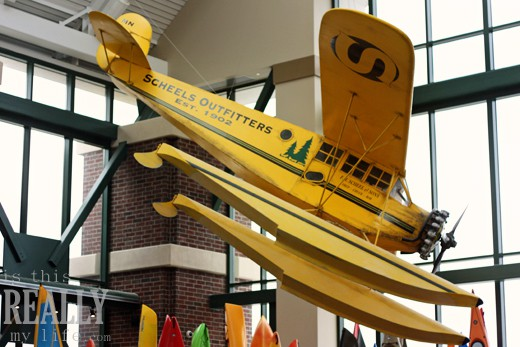 Scheels Utah airplane