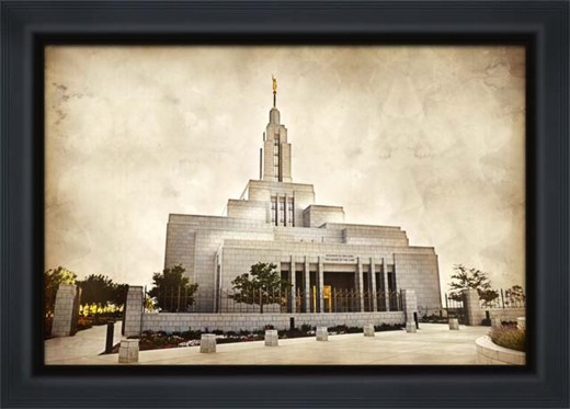 Draper Utah LDS Temple by LDS Wall Art