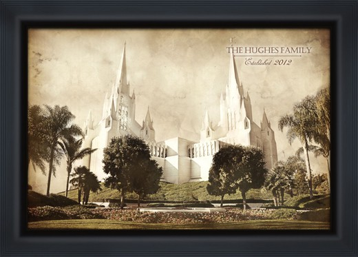 San Diego Temple from LDS Wall Art