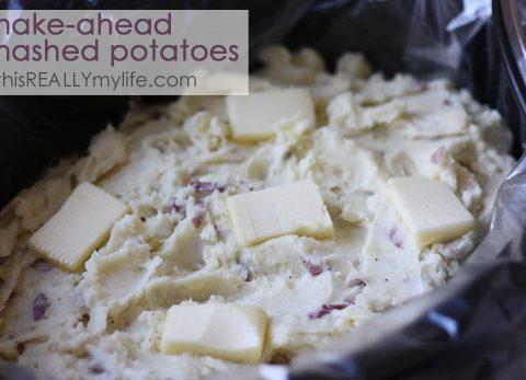 Crock pot make-ahead mashed potatoes