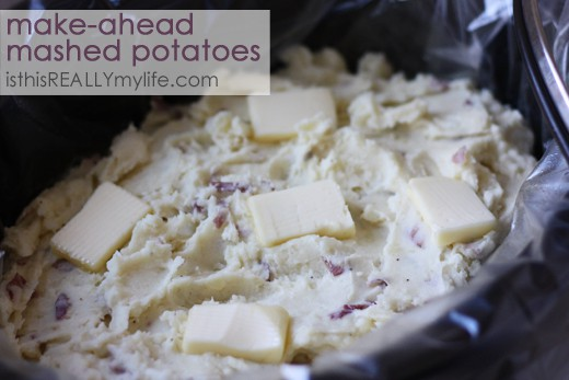 Crock pot make-ahead mashed potatoes