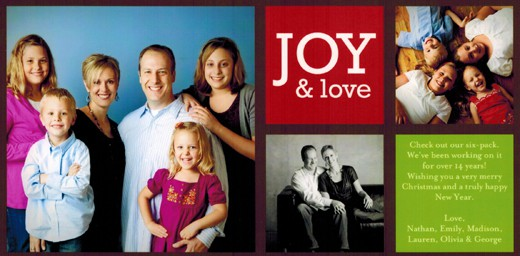 Shutterfly holiday Christmas card 2010