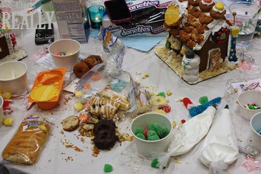 Hostess cupcake gingerbread house
