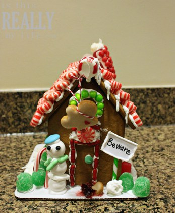 Scary gingerbread house