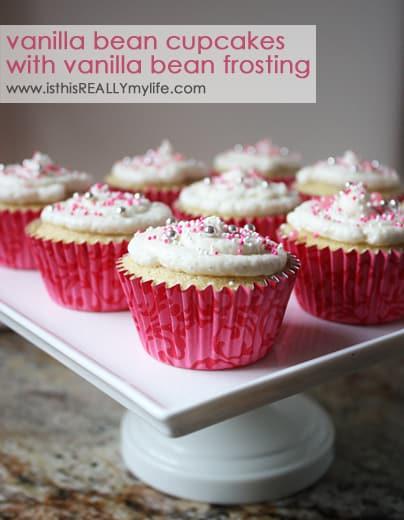 Vanilla bean cupcake with vanilla bean frosting