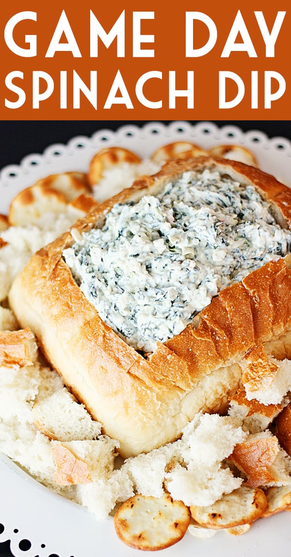 Game Day Knorr Spinach Dip -- A slight tweak to the classic Knorr spinach dip recipe and you have one of my most-requested game day and holiday appetizers! | halfscratched.com