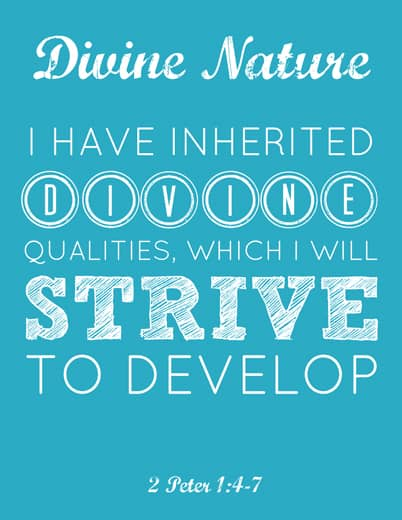 LDS Young Women Divine Nature printable