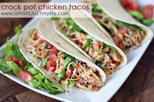 Crock pot chicken taco recipe