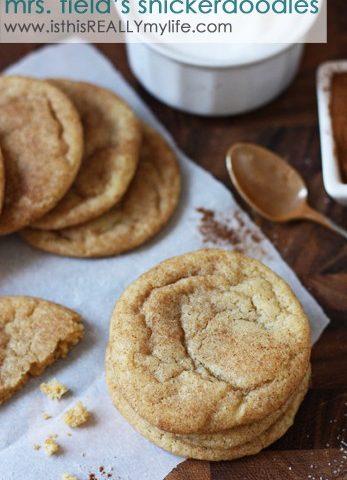 Mrs Fields snickerdoodles recipe