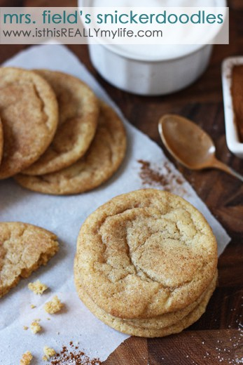 Mrs Fields snickerdoodles recipe