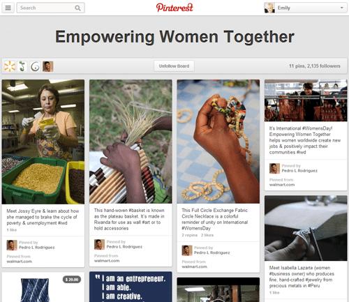 Empowering Women Together Pinterest Board